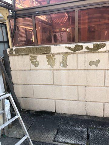 姫路市 ブロック塀塗装補修工事