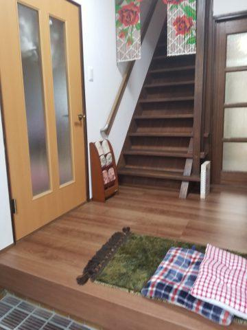 姫路市 廊下階段の床壁工事