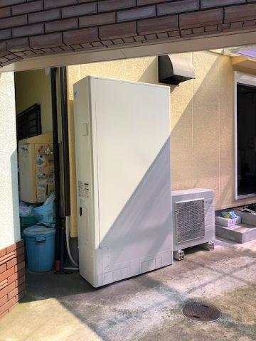 姫路市 ガス給湯器からエコキュートへ
