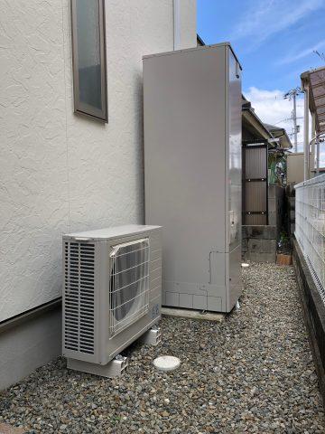 加古川市 温水器からエコキュートへ交換工事