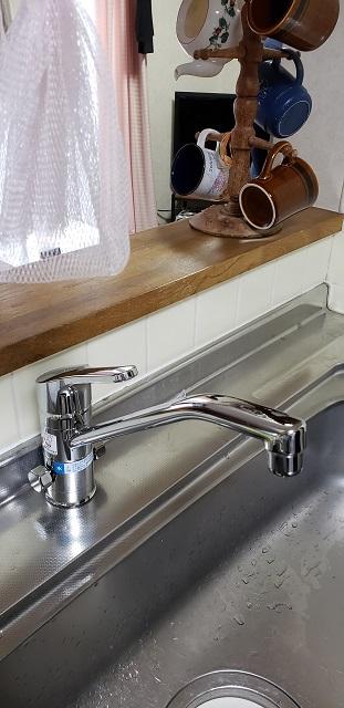 キッチン水栓取替後