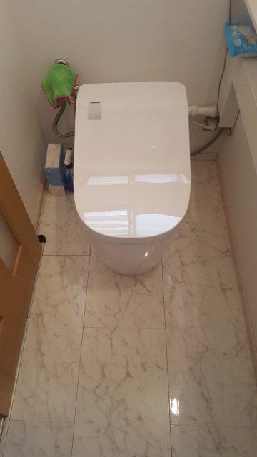 赤穂市 専用手洗いそのままトイレ取替工事