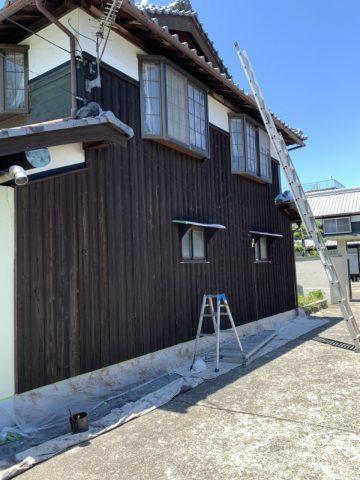 姫路市 焼き板塗装工事