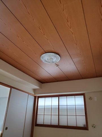 和室天井クロス貼り