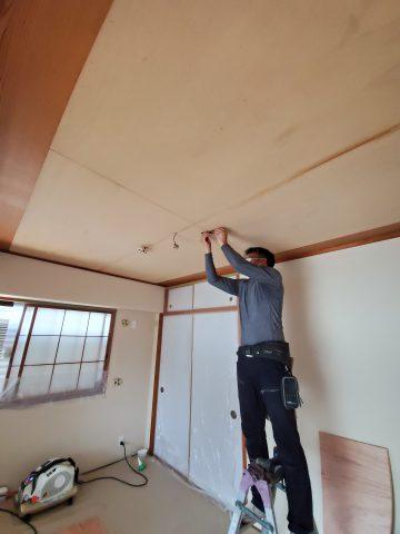 姫路市 和室天井クロス施工