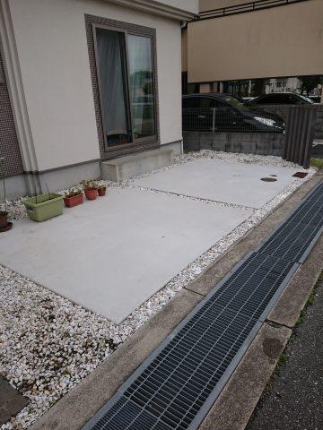 姫路市 駐車場の土間改修工事