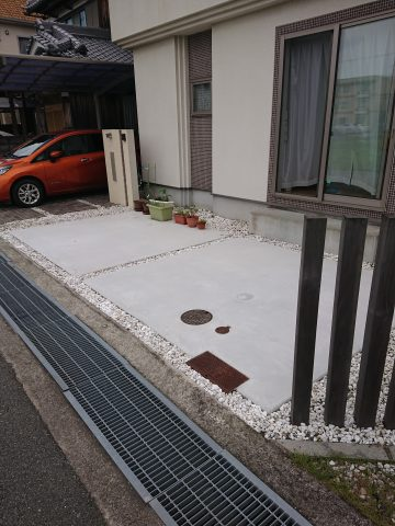 駐車場土間改修