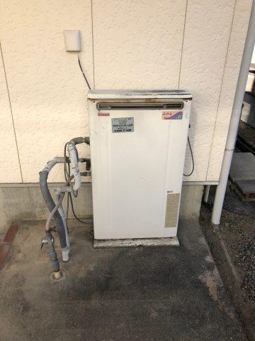 ガス給湯器の交換 2つ穴から1つ穴