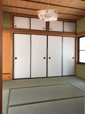 姫路市 和室の建具と畳表替え