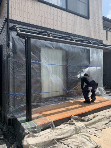 姫路市 テラス塗装