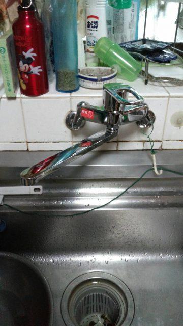 高砂市 キッチン水栓金具の取替え