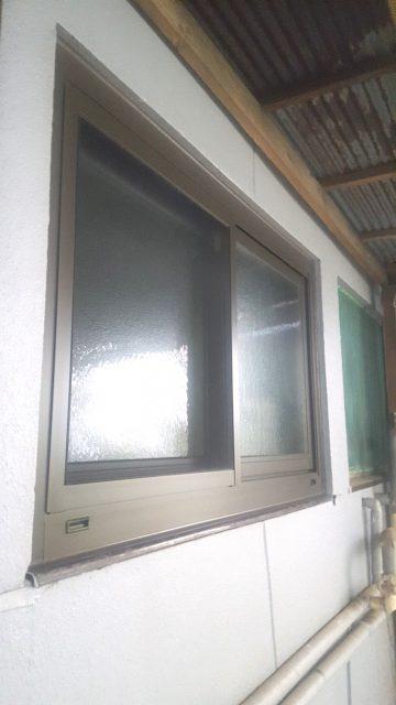 赤穂市 浴室窓改修工事