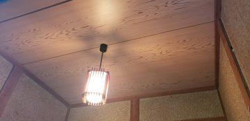 赤穂市 玄関の天井張替工事