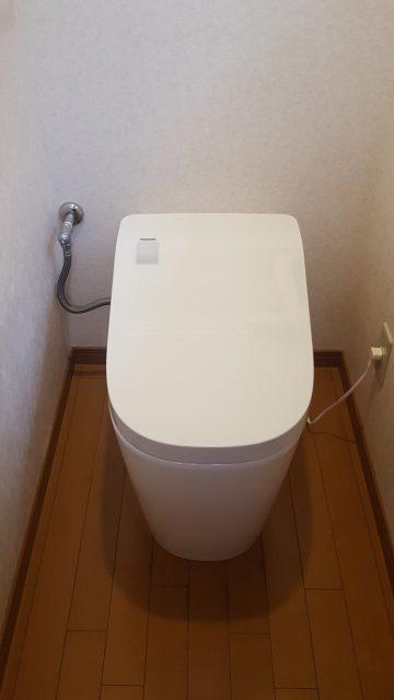 赤穂市 自動開閉トイレ取替工事