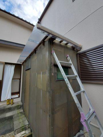 姫路市 物置小屋屋根波板張替え
