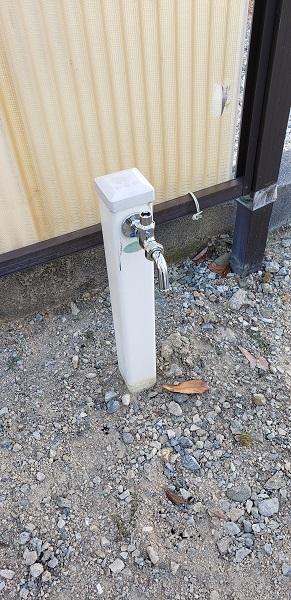 ロック付水栓施工後2