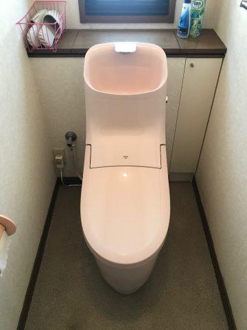 高砂市 ピンクの便器の取替工事