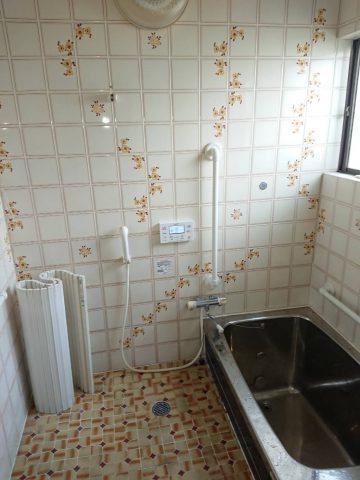 備前市 浴室手すり取り付け工事
