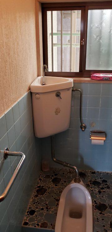 姫路市 和式トイレのタンク入替え