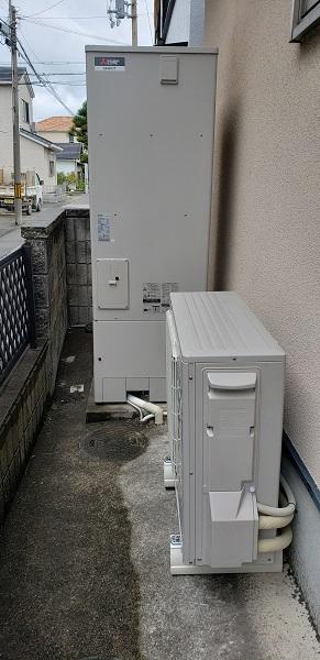赤穂市 エコキュートに取替工事