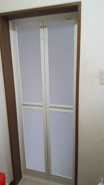赤穂市 浴室ドア取替工事