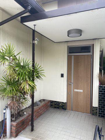 外壁塗装施工前のお家