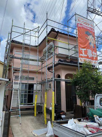 加古川市 外壁塗装工事と屋根の漆喰工事