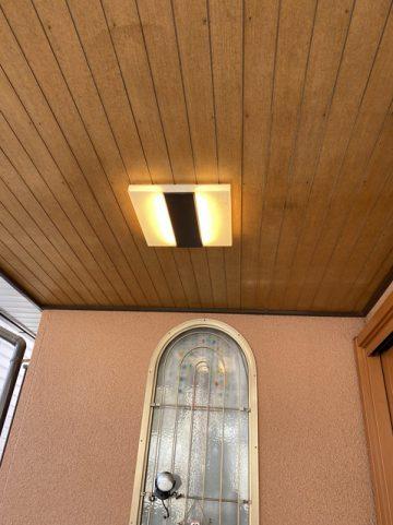 赤穂市S様邸 玄関ポーチ照明取替