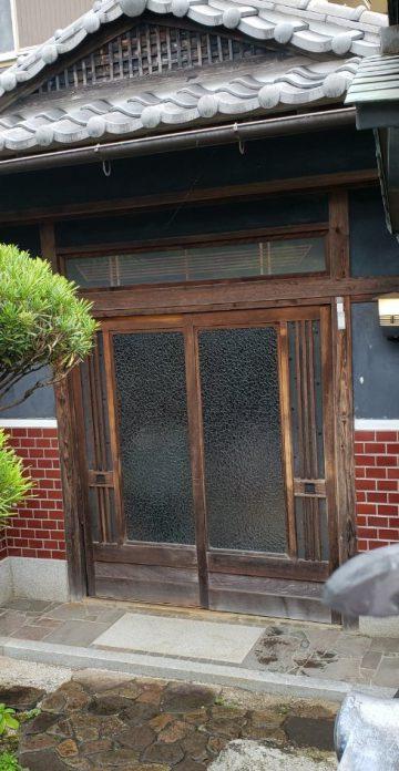 姫路市 玄関引き戸工事
