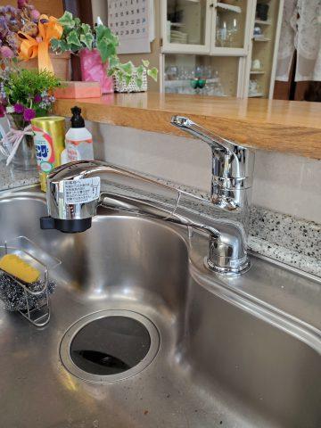姫路市 キッチン水栓金具、食洗器取替工事