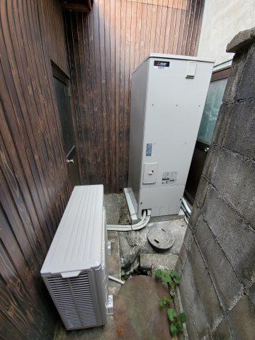 姫路市 石油給湯器からエコキュート