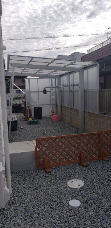 たつの市 洗濯干し場サイドパネル