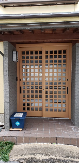 赤穂市 玄関引戸の取替え