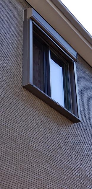 赤穂市 窓にシャッターを取付
