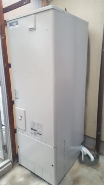 赤穂市 電気温水器からエコキュート交換工事