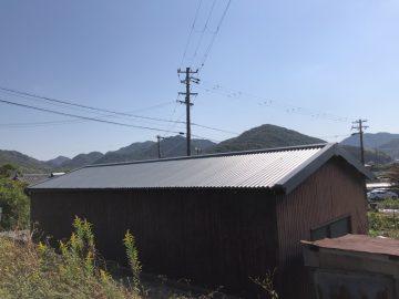 姫路市 納屋の屋根のカバー工法