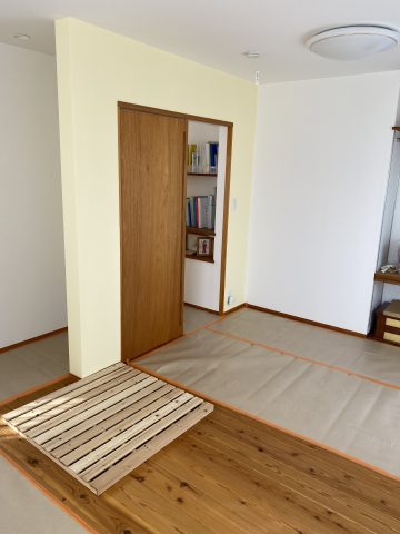 姫路市 子供部屋を2つに分けてその壁をベットにしたい