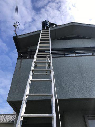 姫路市で外壁屋根塗装の事前調査