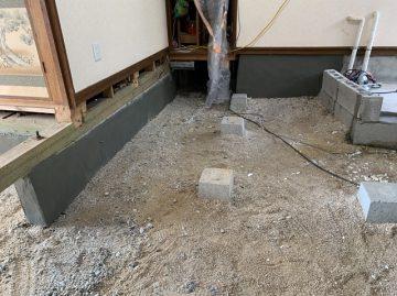 赤穂郡上郡町 コンクリート基礎補修工事