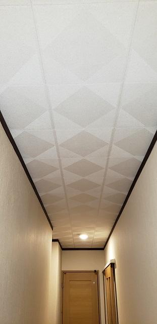 赤穂郡上郡町 廊下の天井を張替