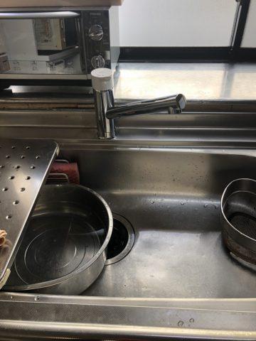 姫路市 台所水栓の取替