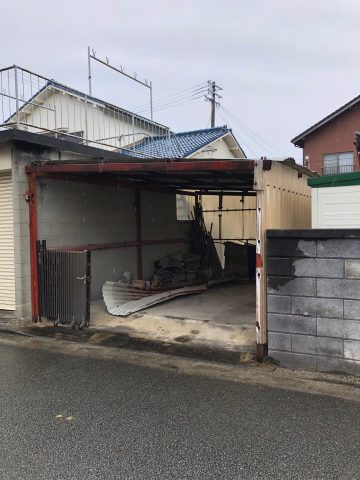 鉄骨のカーポートの撤去 姫路