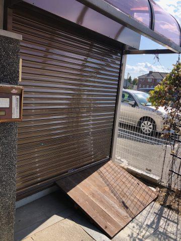 姫路市 納屋の引戸をシャッターへ交換