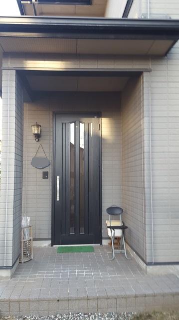 相生市で外壁塗装施工前の家の正面