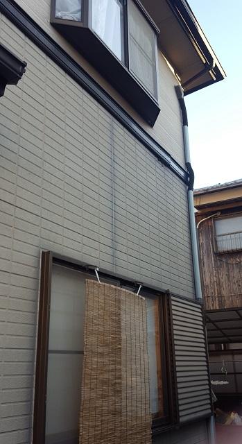 相生市で外壁塗装前の家の壁