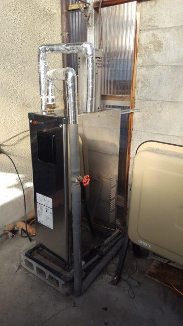 赤穂市 石油給湯機の取替