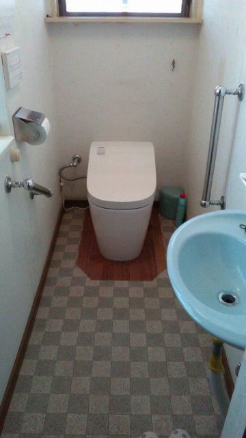 アラウーノL150へトイレ取替完工