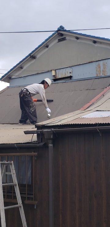 姫路市 トタン屋根塗装工事