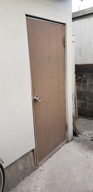 姫路市 勝手口ドア入替え工事