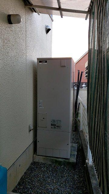 相生市 電気温水器からエコキュートに取替